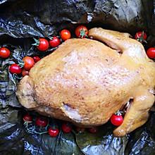烤箱烤荷叶叫花鸡