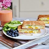 黄瓜鸡蛋热压三明治#花10分钟,做一道菜!#的做法图解18