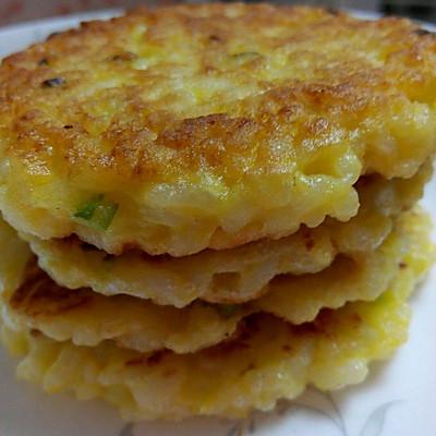 香煎米饼。剩饭也美味