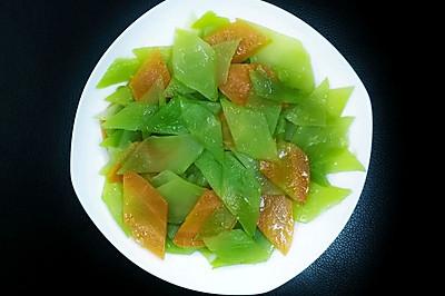 菱形片莴笋胡萝卜的切法
