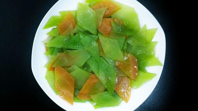 菱形片莴笋胡萝卜的切法的做法