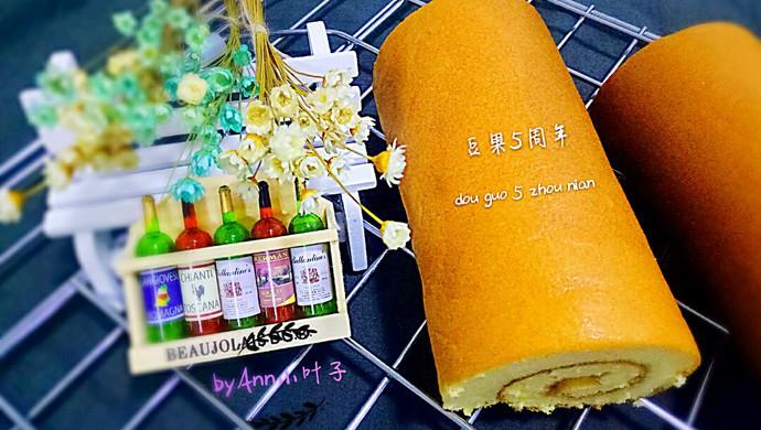 蓝莓酱蛋糕卷+