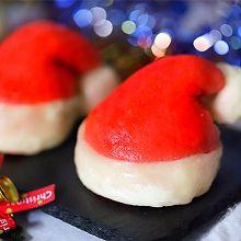 #令人羡慕的圣诞大餐#圣诞帽南瓜包
