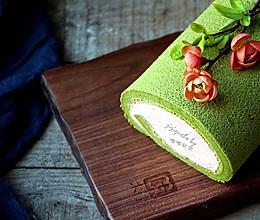 #东菱电子烤箱#卷出一个春天——抹茶草莓蛋糕卷