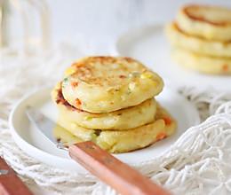 #夏日撩人滋味#香煎实蔬土豆饼的做法