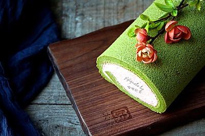 卷出一个春天——抹茶草莓蛋糕卷