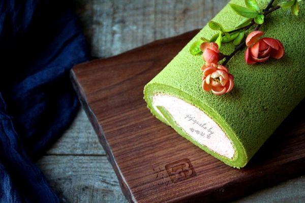 卷出一个春天——抹茶草莓蛋糕卷的做法