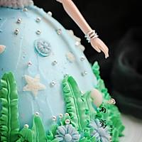 海洋芭比蛋糕的做法图解16