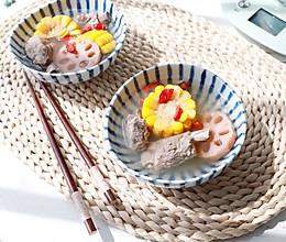 秋冬养生的玉米莲藕排骨汤的做法