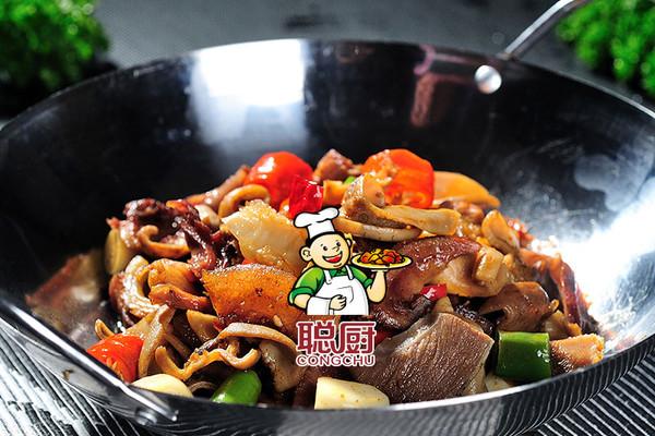 食材 酒店特色之聪厨干锅牛杂的做法