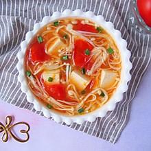 #晒出你的团圆大餐#番茄金针菇豆腐汤