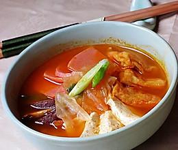 韩国火腿泡菜豆腐汤的做法