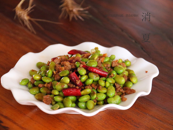 超级下饭菜-毛豆炒肉末的做法