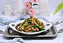 #带着零食去旅行!#香干肉丝炒韭菜的做法