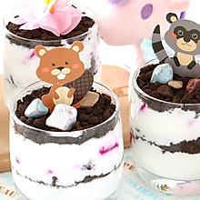 简单夏日宝宝甜品:秘制浓稠酸奶做水果小盆栽