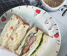#人人能开小吃店#照烧鸡腿三明治的做法