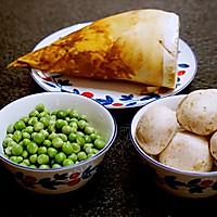 春天的味道-豌豆蘑菇炒春笋的做法图解1