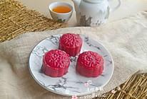 #年味十足的中式面点#火龙果月饼的做法
