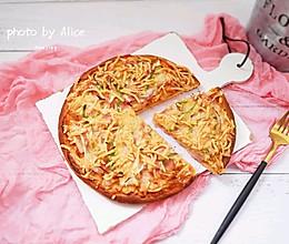 墨鱼仔虾仁海鲜披萨#美味烤箱菜,就等你来做!#的做法
