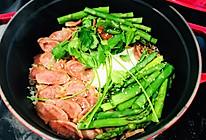 用铸铁锅做芦笋腊肠煲仔饭的做法