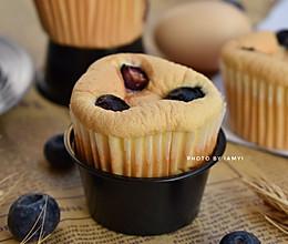 #快手又营养,我家的冬日必备菜品# 蓝莓小蛋糕的做法