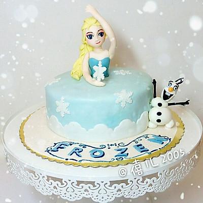 翻糖蛋糕--冰雪奇缘
