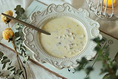 超级浓郁的奶油蘑菇汤做法简单好吃媲美必胜客