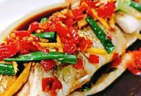 剁椒版清蒸鲈鱼,鲜香!#全电厨王料理挑战赛热力开战!#的做法