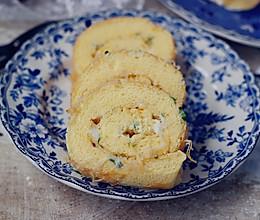 葱香肉松蛋糕卷的做法