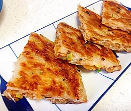 不用和面,外酥里嫩的手抓饼版-快手香酥肉饼的做法