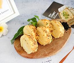#夏日消暑,非它莫属#【海苔肉松蛋糕卷】绵软咸香的做法
