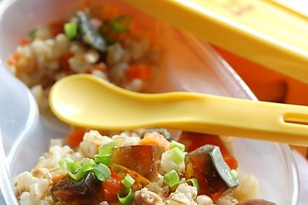 皮蛋瘦肉糙米粥的做法
