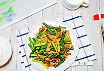 #合理膳食 营养健康进家庭#家常菜蒜苔炒肉的做法