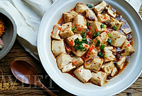 夏季开胃滴(鱼籽牛肉酱烩山水豆腐)的做法
