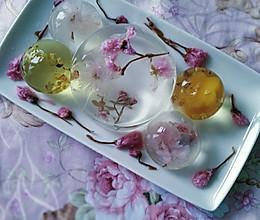 花之语水晶玄饼(可以吃的茶冻。美的不忍下口)的做法