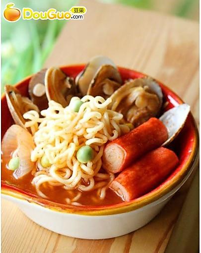 韩剧里出现频率最高的美食-韩式海鲜泡面的做法