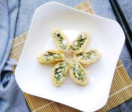 #带着美食去踏青#香椿豆腐鸡蛋卷的做法