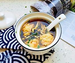 #夏日消暑,非它莫属#三鲜鱼丸汤的做法