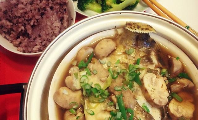 口蘑清蒸桂鱼