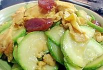 西葫芦香肠(广东腊肠)炒蛋的做法