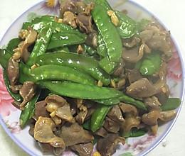 荷兰豆炒鸡珍的做法