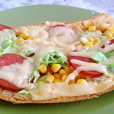 懒人儿童餐:吐司披萨