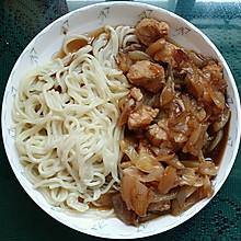 夏季一人食 - 无油低脂洋葱鸡胸肉日式盖浇
