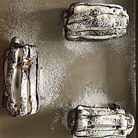 黑白双煞双色哈斯面包(糖渍橙皮,巧克力,奶油)的做法图解13