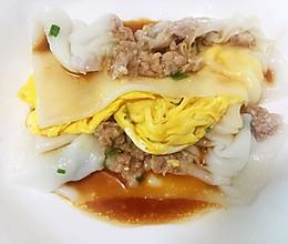 瘦肉鸡蛋肠粉的做法