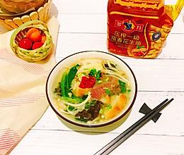 #多力金牌大厨带回家-北京站#牛肉高汤菌蔬煮馍块的做法
