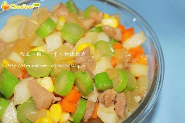 蔬果五宝肉丁的做法