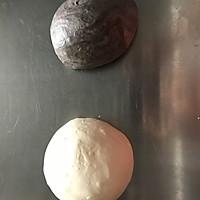黑白双煞双色哈斯面包(糖渍橙皮,巧克力,奶油)的做法图解2