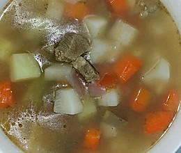 土豆萝卜牛肉汤的做法