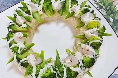 #520,美食撩动TA的心!#花环沙拉